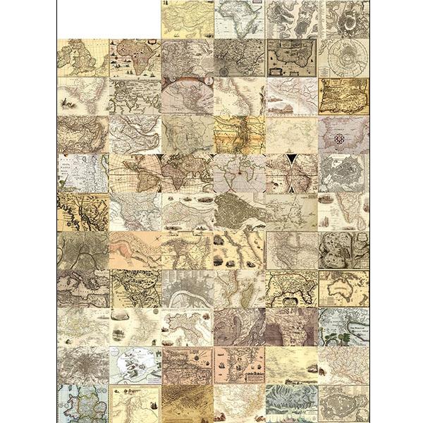 Creative Collage Vintage maps